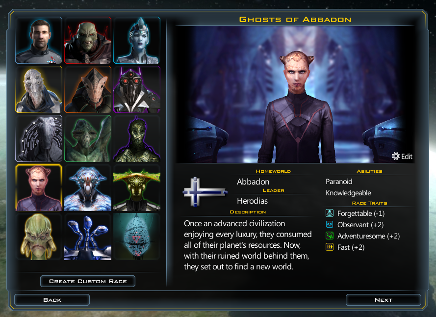 Galactic Civilizations III  Modding » Forum Post by Derek Paxton
