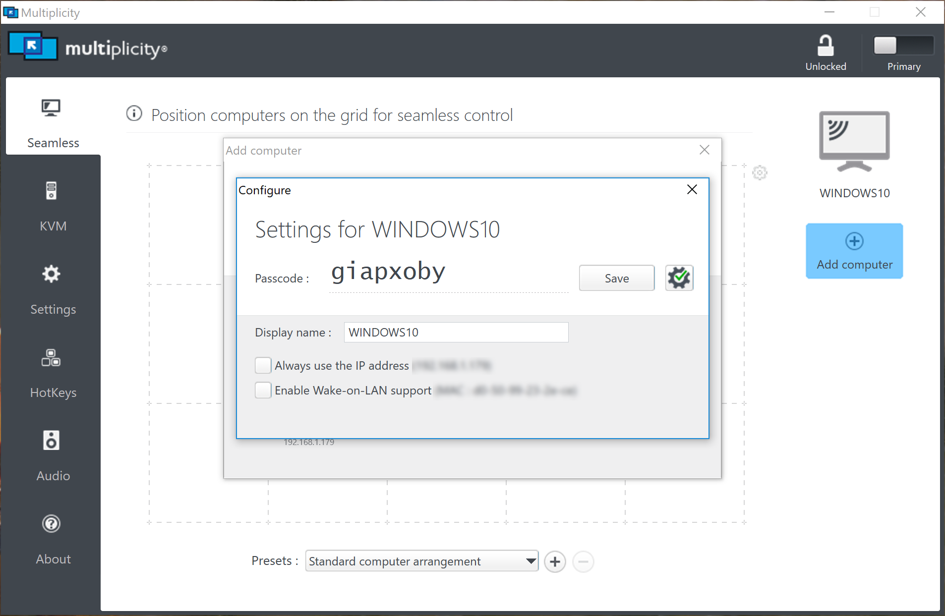 Setting up Multiplicity Seamless and KVM Mode » Forum Post