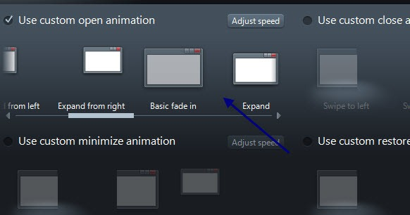 Fx options window