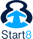 Start8 full logo flat