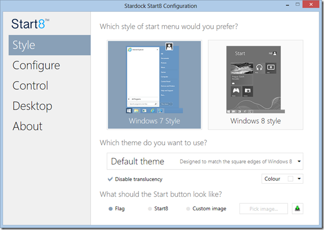Start8 Windows 8 start menu