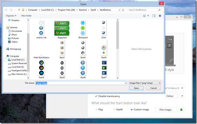 Start8 Windows 8 Start Button